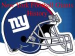New York Football Giants History