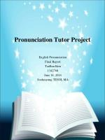 Pronunciation Tutor Project