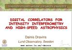 Intensity Interferometry workshop – Salt Lake City, January 2009