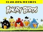 CLASS AVES: THE BIRDS