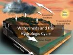 Watersheds and the Hydrologic Cycle