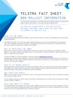 TELSTRA FACT SHEET