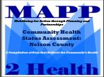 Community Health  Status Assessment: Nelson County