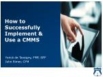 How to Successfully Implement & Use a CMMS