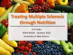 Treating Multiple Sclerosis through Nutrition