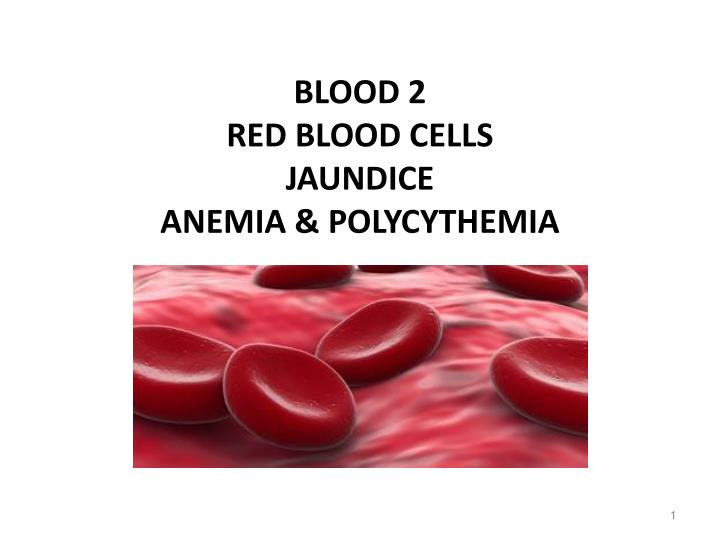 blood 2 red blood cells jaundice anemia polycythemia n.