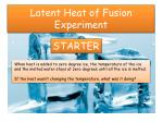 Latent Heat of Fusion Experiment