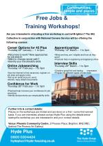 Free Jobs &  	  Training Workshops!
