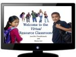 Welcome to the Virtual Resource Classroom