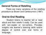 General Forms of Retelling
