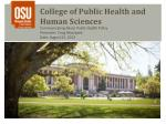 College of Public Health and Human Sciences