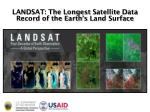 LANDSAT: The L ongest S atellite D ata R ecord of the Earth's Land Surface