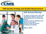 CMS Quality Strategy and Quality Measurement