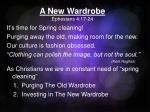 A New Wardrobe Ephesians 4:17-24