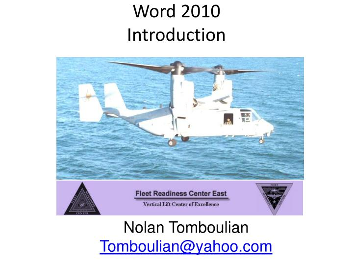 word 2010 introduction n.