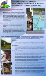 INTEGRATED DEVELOPMENT PROGRAM FOR INDIGENOUS PEOPLES -SOUTHERN TAGALOG ( IDPIP-ST )