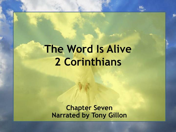 the word is alive 2 corinthians n.