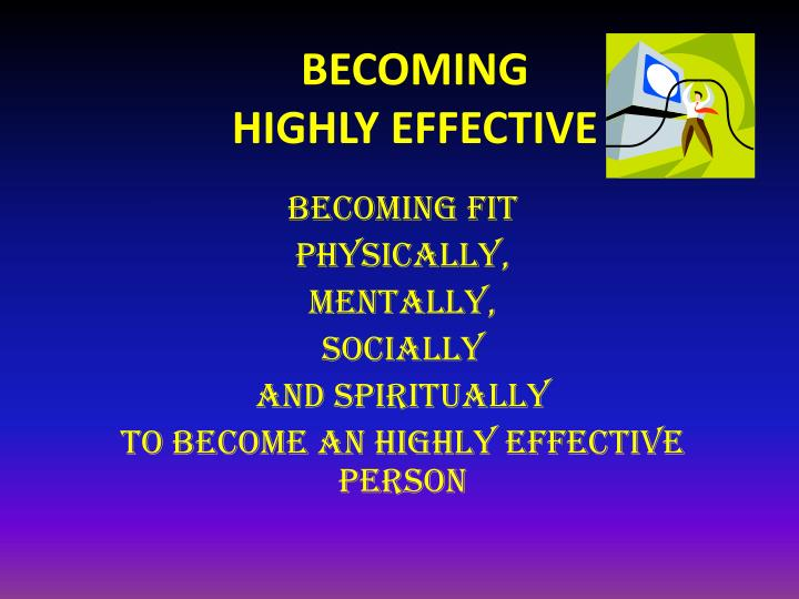 becoming highly effective n.