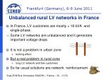 In France, LV customers are mostly < 18 kVA and single-phase.