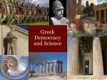 Greek  Democracy  and Science