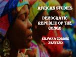 AFRICAN STUDIES DEMOCRATIC REPUBLIC OF THE CONGO
