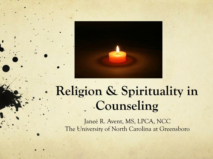 religion spirituality in counseling n.
