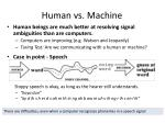 Human vs. Machine