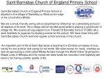 Saint Barnabas Church of England Primary  School