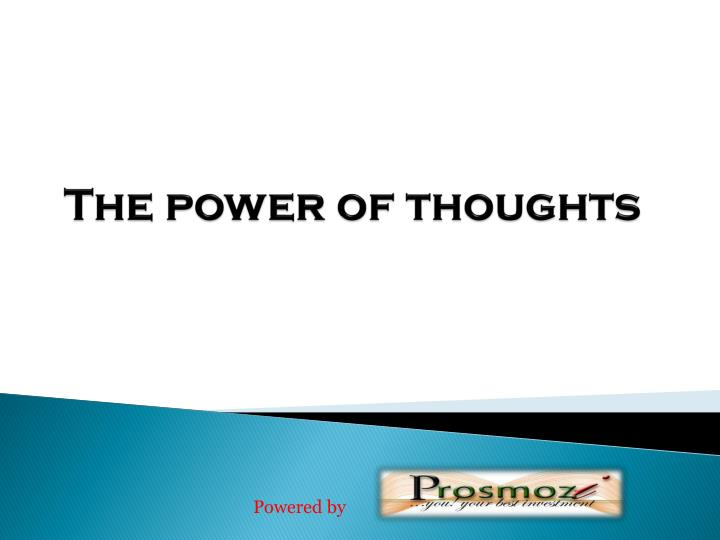 the power of thoughts n.