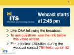 Live Q&A following the broadcast. To ask questions, use the link below this video screen.