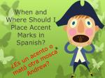 When and Where Should I Place Accent Marks in Spanish?