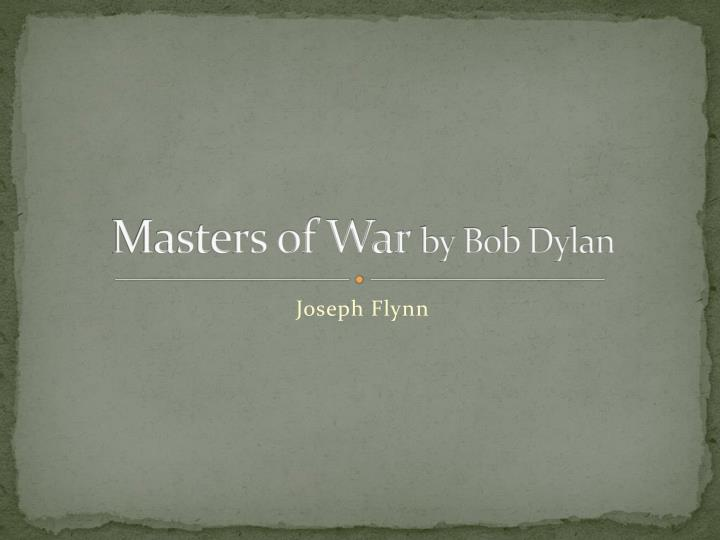 masters of war by bob dylan n.