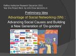Raffles Institution Research Education 2011 Year One Project Work by John Chew Geronimo Jr.