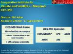 Cooperative Institute for Climate and Satellites – Maryland CICS-MD Director: Phil Arkin