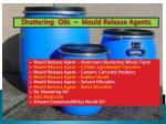 Types of shuttering oils mould release agents