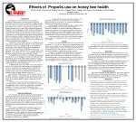 Effects of Propolis use on honey bee health