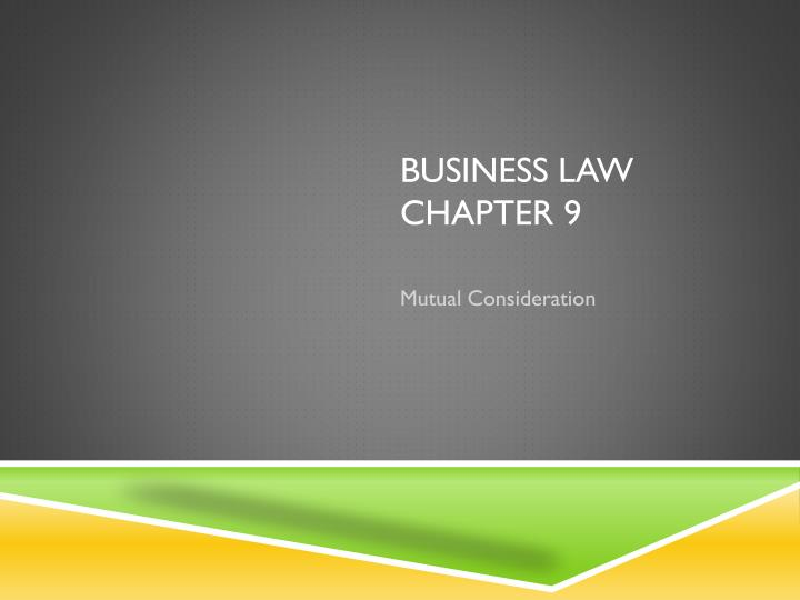 business law chapter 9 n.