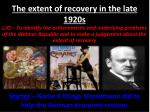 The extent of recovery in the late 1920s