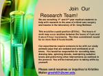 Join   Our Research Team !