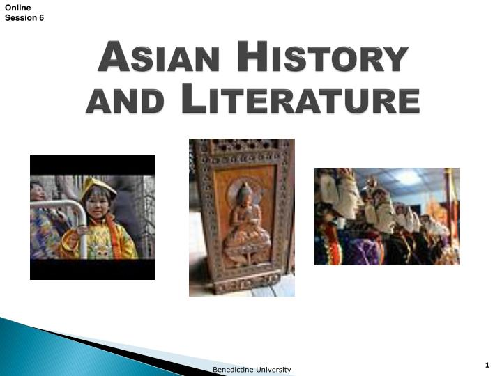 asian history and literature n.