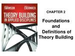 CHAPTER 2 Foundations  and  Definitions of Theory Building