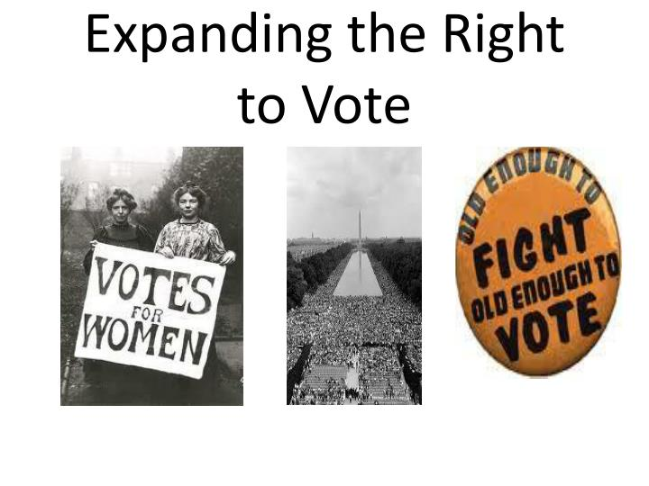 expanding the right to vote n.