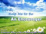 Practical Ways to Be an Encourager (Part 2)