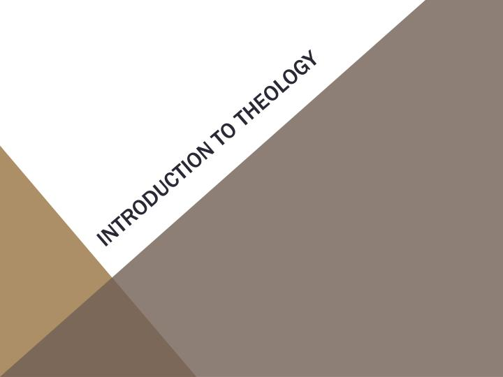 introduction to theology n.