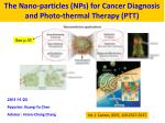 The Nano-particles (NPs) for Cancer Diagnosis and Photo-thermal Therapy (PTT)