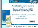 Acute Food Insecurity Analysis IPC Current situation April 2012 Projection April to July 2012