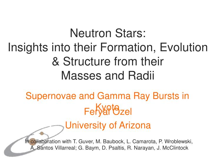 neutron stars insights into their formation evolution structure from their masses and radii n.