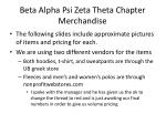 Beta Alpha Psi Zeta Theta Chapter Merchandise