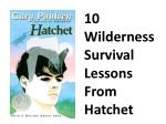 10 Wilderness Survival Lessons From Hatchet