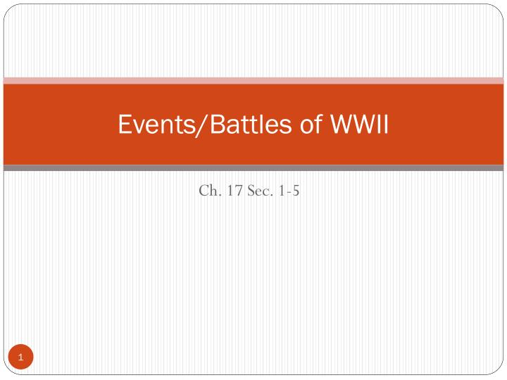 events battles of wwii n.